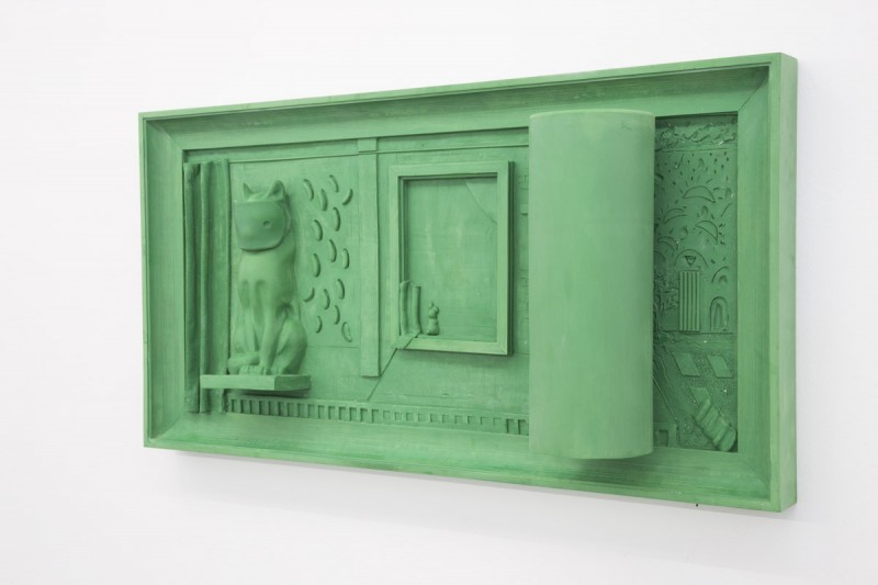 Nadia Naveau, Green Silver Screen, Epoxy, 135 x 70 x 24 cm